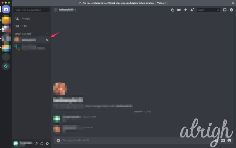 Delete Direct Messages on Discord