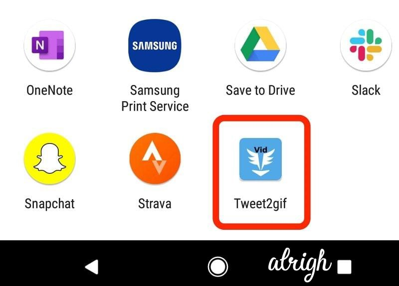 Use Tweet2gif To Save Twitter GIFs on Android