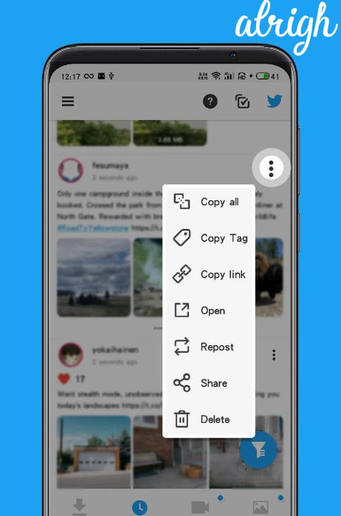 Use Twimate Downloader To Save Twitter GIFs on Android