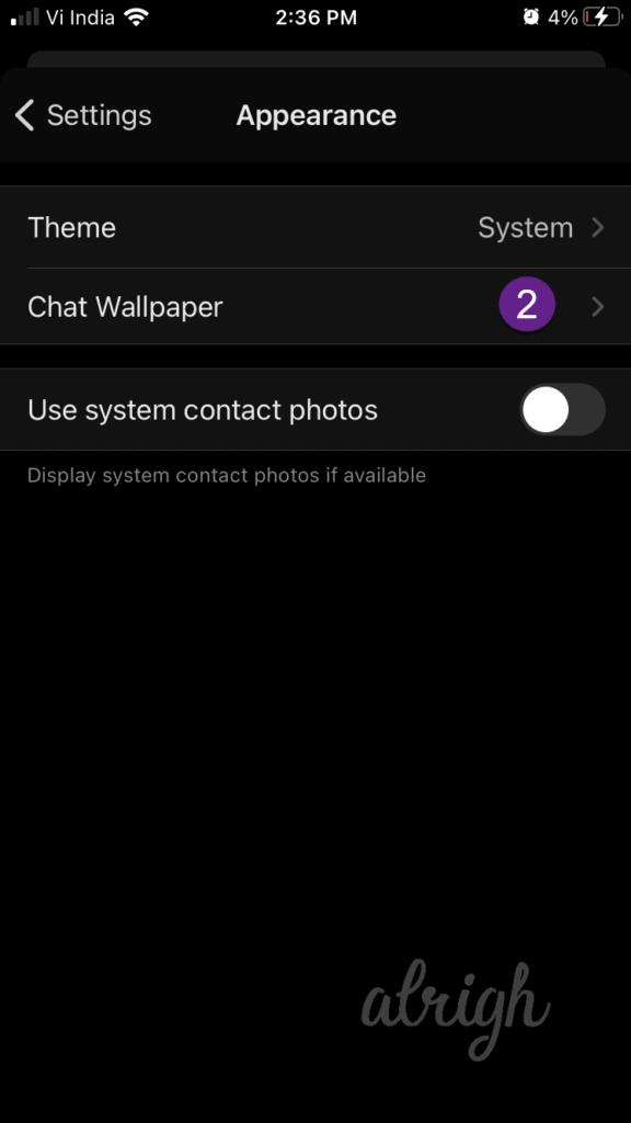 how to change chat wallpaper 2