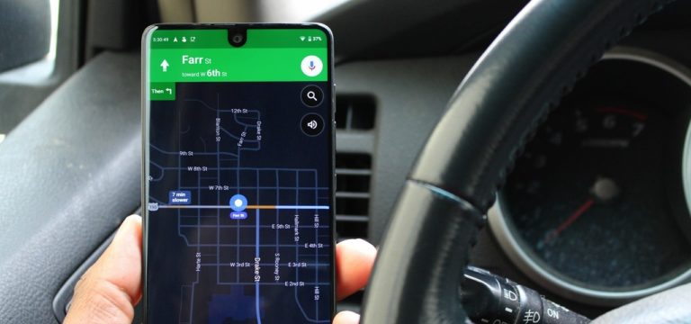 Dark mode on google maps for android