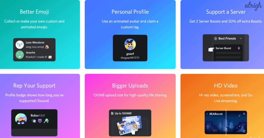 Discord's Nitro vs Nitro Classic: Features such as HD videos, Better Emojis, Bigger uploads and more are available.