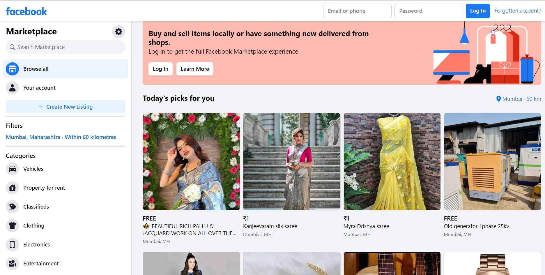 Facebook-Marketplace - sites like craigslist