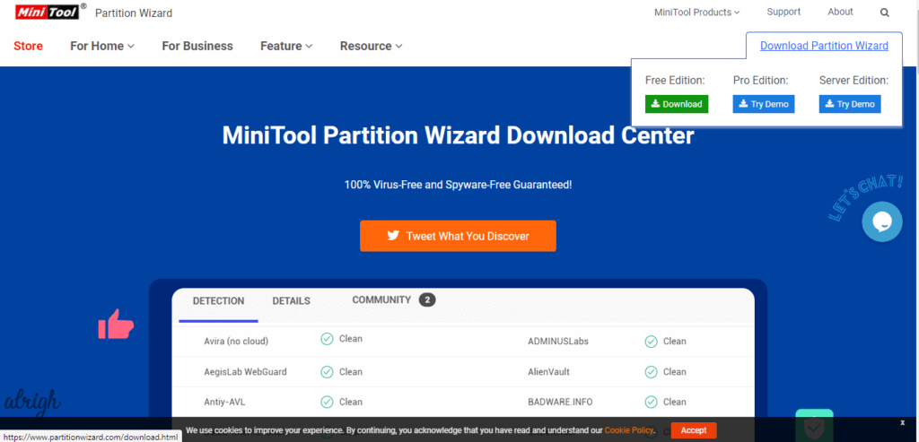 The MiniTool Partition Wizard helps to extend the partition for increasing disk space and thus, resolving the Fallout 4 crashing on startup error
