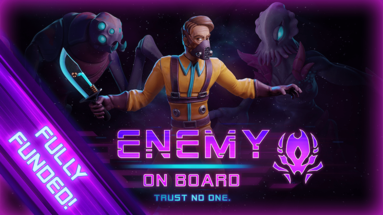 Enemy on board poster